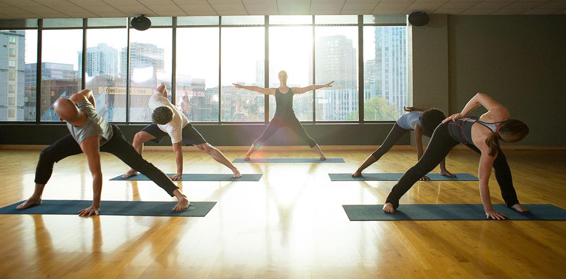 Group Yoga Classes | East Bank Club